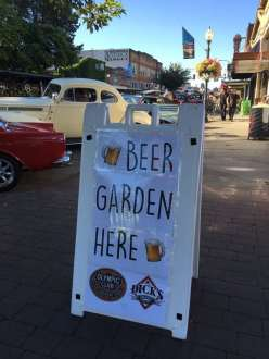 Beer Garden at Hub City Car Show