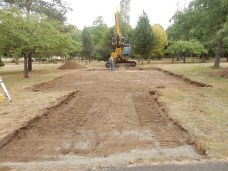 Groundwork for Borst Park Pioneer Church