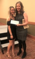 Boys & Girls Club of Chehalis Scholarship recipient Alida Ellingson with Lauren Day Executive Director of Boys & Girls Club of Chehalis. Photo credit: Centralia Chehalis Chamber of Commerce.