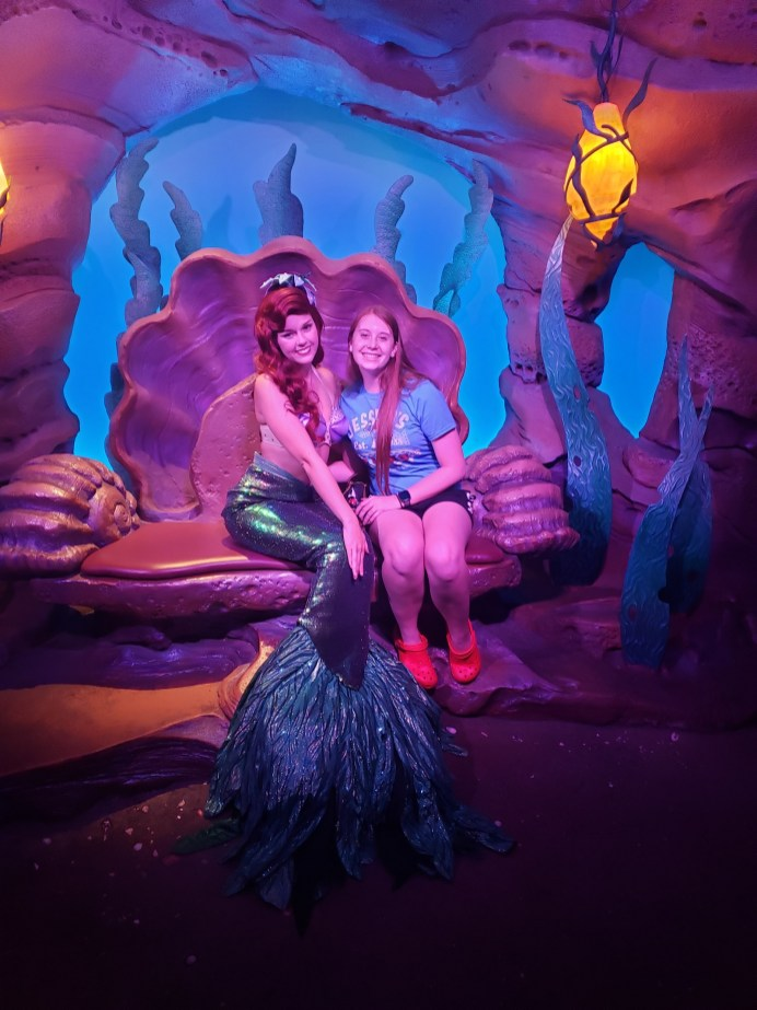 "Always a Disney fan, Daisy's favorite is Ariel. ""It's the red hair,"" she says. ""I wish I could be a mermaid. I've grown up in the good old Disney era and rewatch the movies for those feelings that they can evoke."" Photo credit: Daisy Bower."