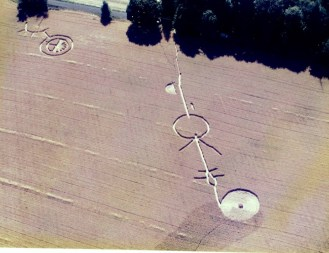 Flying Saucer Crop Circle by Air