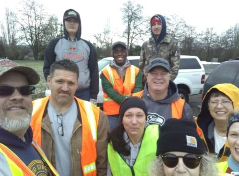 """Rain or shine, every Saturday Steve Kopa and other volunteers clean all year long. """"I'm not doing it for anything,"""" he says. """"I just want it to be clean."""" Photo courtesy: Steve Kopa."""