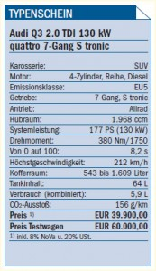 Audi Q3 Typenschein
