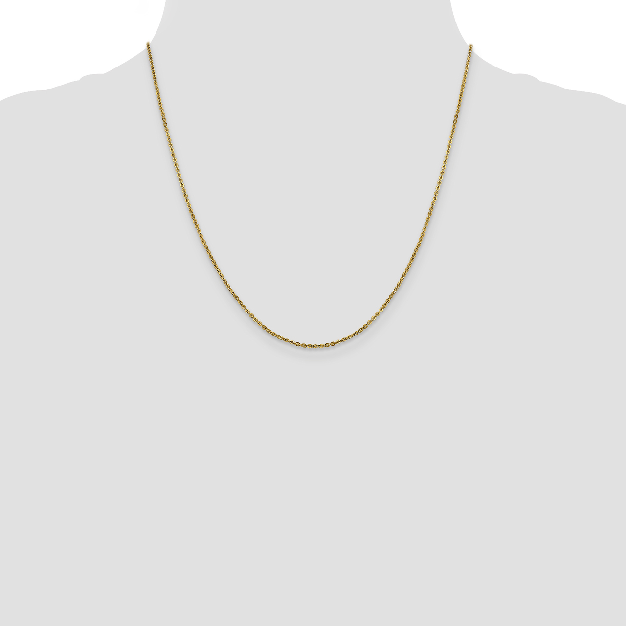 Leslie S 14k Yellow Gold Flat Cable Chain Necklace