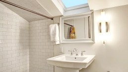 Warm White 4x8 Bathroom