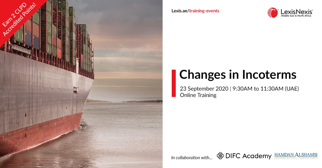 Changes in Incoterms | Online Training | 23 September 2020 | 09:30AM to 11:30AM