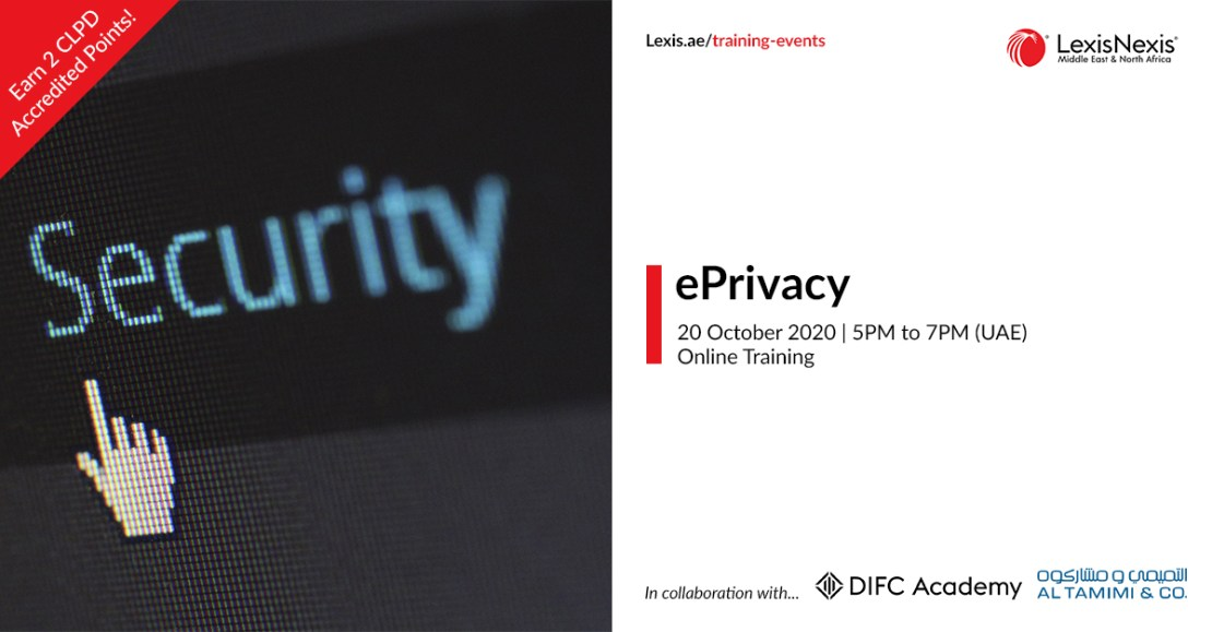 ePrivacy | Online Training | 20 October 2020 | 5PM to 7PM