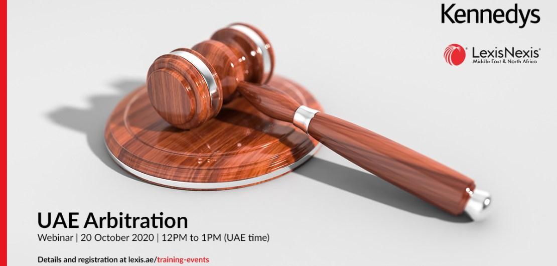 Webinar   UAE Arbitration   20 October 2020   12PM to 1PM