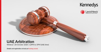 Webinar | UAE Arbitration | 20 October 2020 | 12PM to 1PM