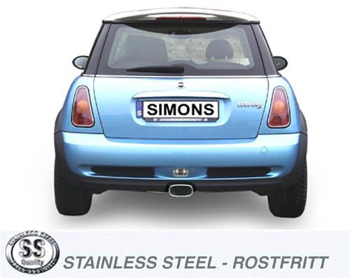 simons stainless steel exhaust system