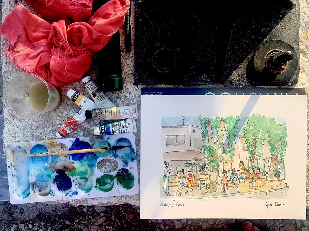 gouache et aquarelle