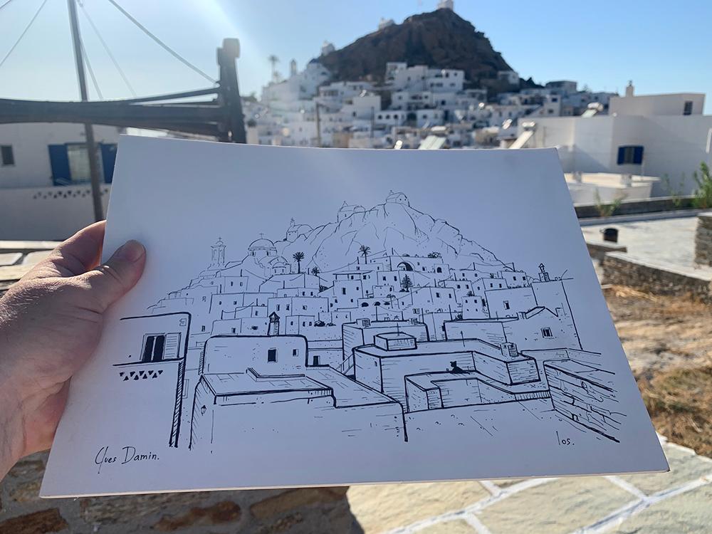 dessin dans les îles grecques