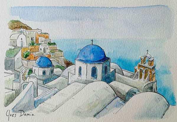 Santorin, cyclades