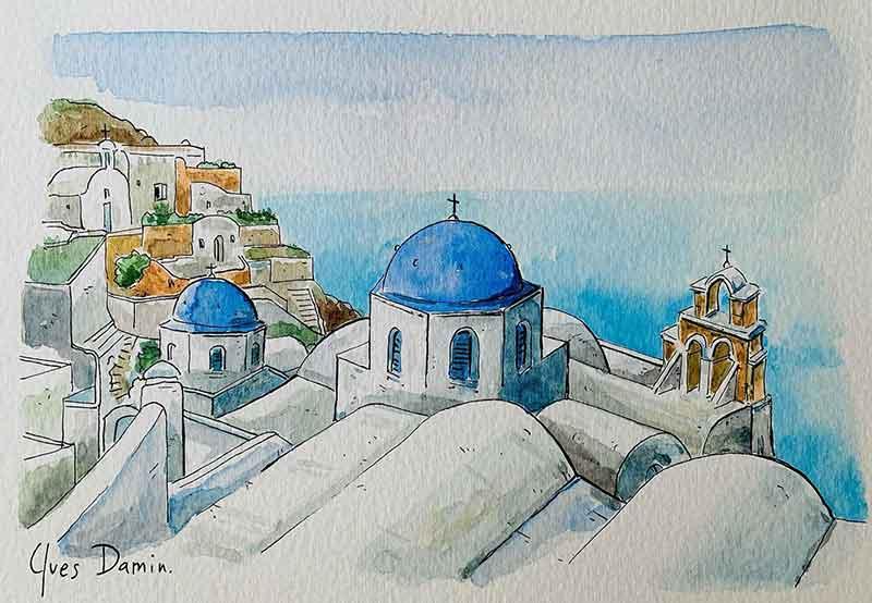 paysage grec Santorin