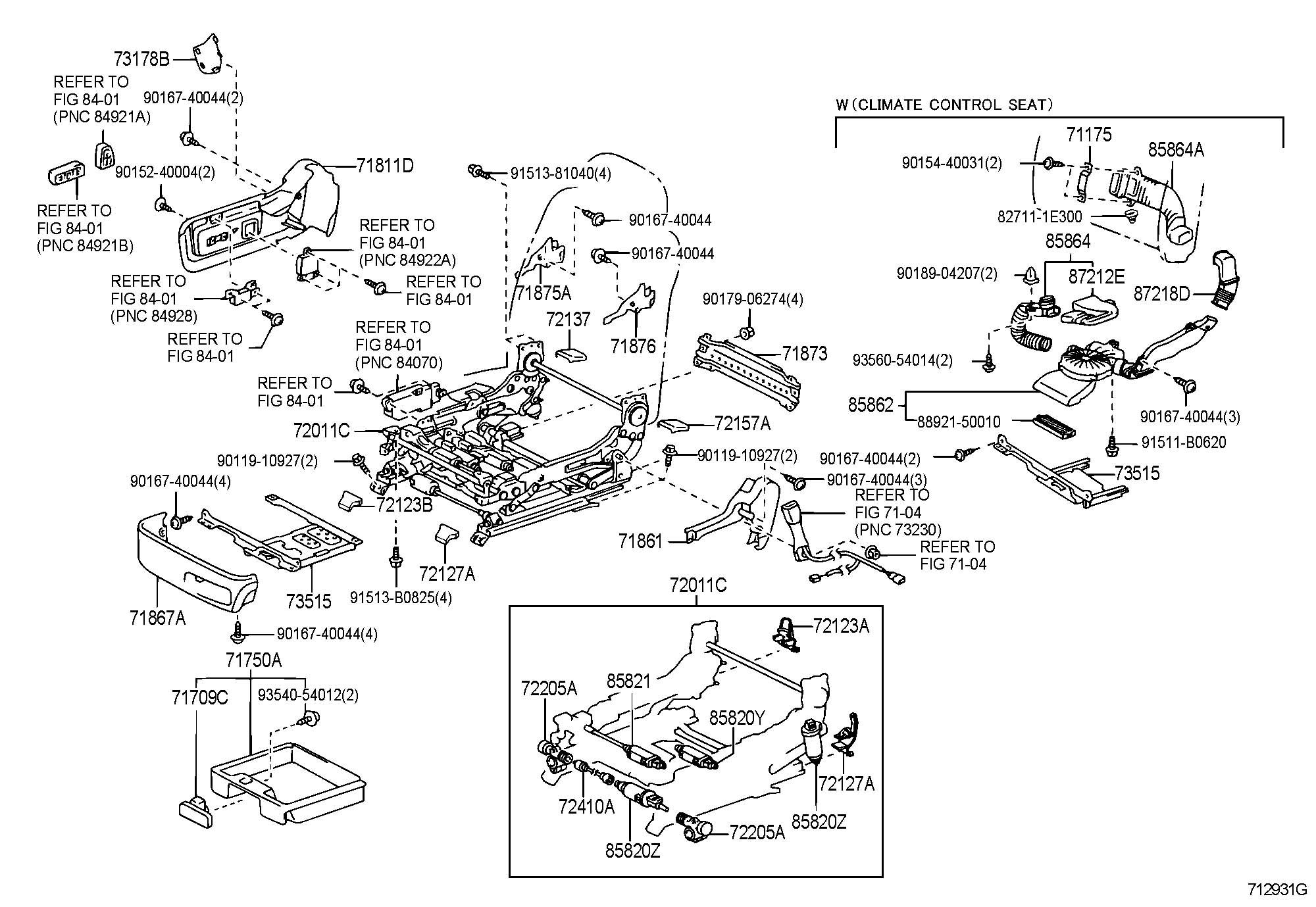 Lexus Ls430 Front Seat Amp Seat Track