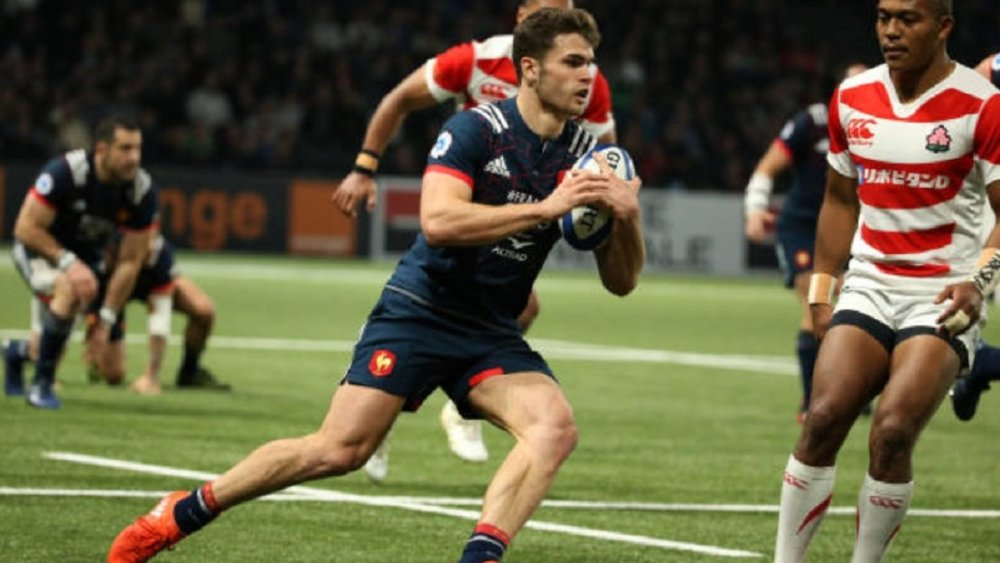 pas de tournois 6 nations damian penaud rugby top 14 france international xv de départ 15 ovalie