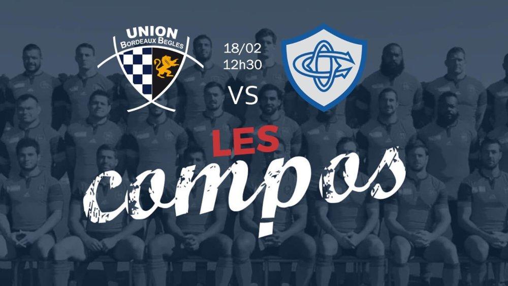 bordeaux v castres compositions équipes rugby france top 14 xv de départ 15