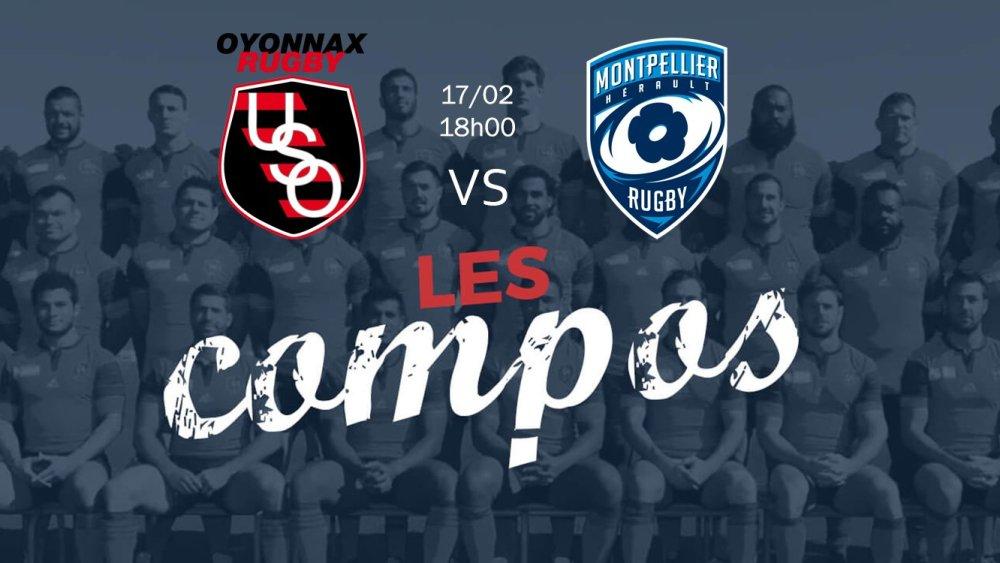 oyonnax v montpellier compositions équipes rugby france top 14 xv de départ 15