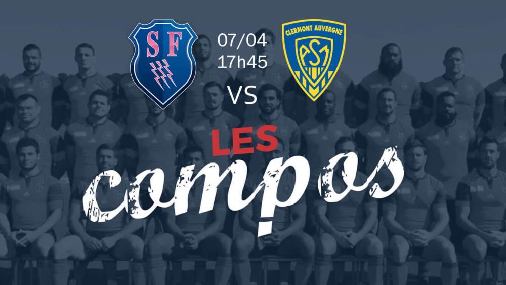 paris v clermont compositions équipes rugby france top 14 xv de départ 15