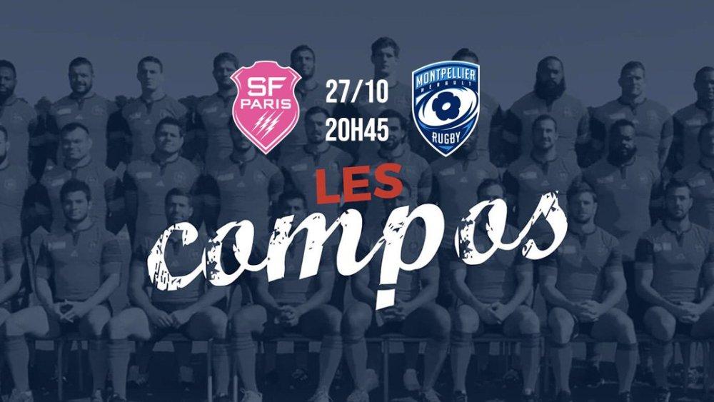 les formations stade français vs montpellier xv de départ top 14 rugby