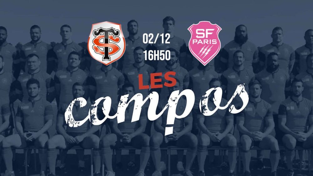 les compos toulouse vs paris xv de départ 15 rugby top 14
