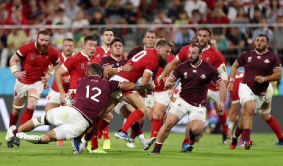le pays de galles solide vainqueur de la géorgie coupe du monde rugby xv de départ 15