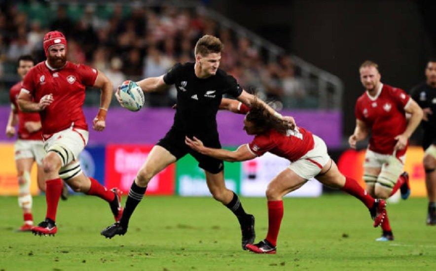 all blacks jordie barrett titulaire à l'ouvreture rugby coupe du monde xv de départ 15