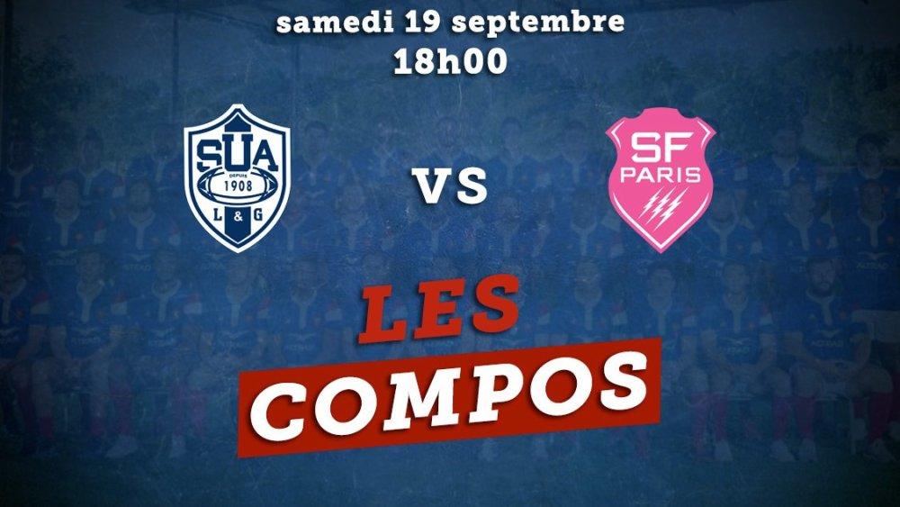 les équipes agen vs stade français paris rugby france xv de départ 15