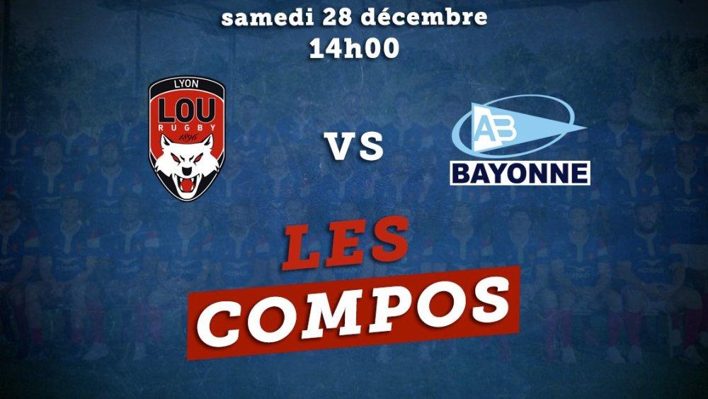 les compos lyon vs bayonne rugby france xv de départ 15