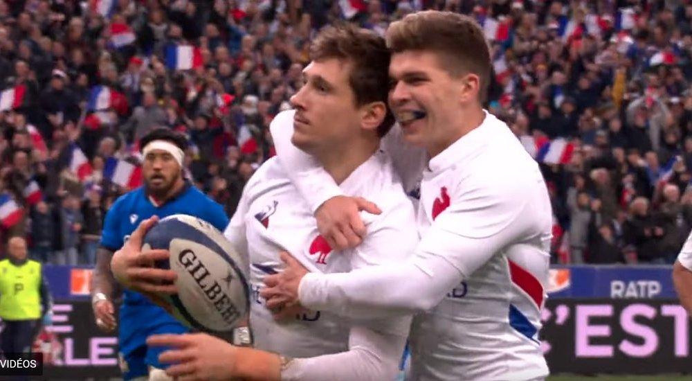 vidéo baptiste serin surprend la défense italienne rugby 6 nations xv de départ 15