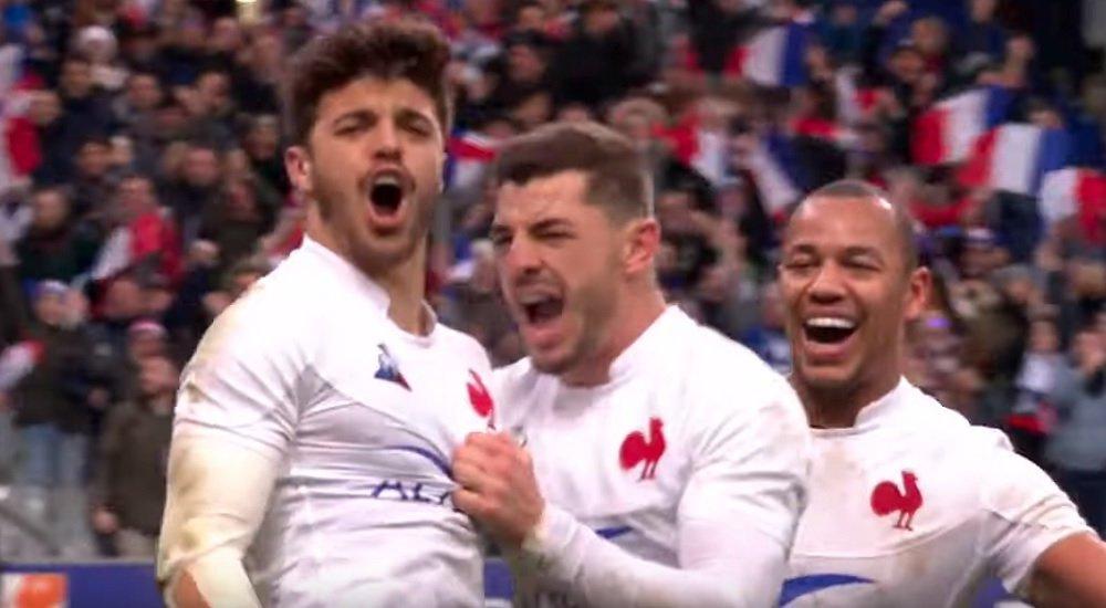 vidéo romain ntamack offre le bonus aux bleus rugby 6 nations