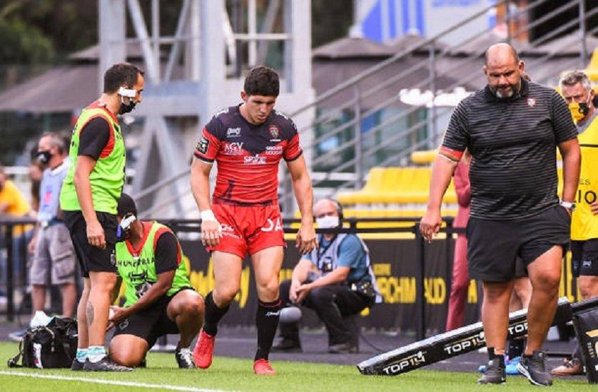 top 14 toulon belleau gravement touché rugby france xv de départ 15
