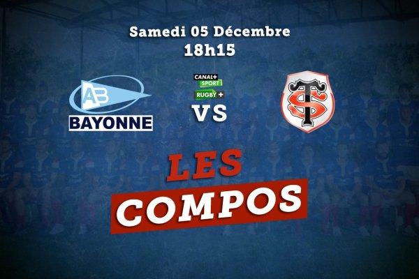 top 14 compos bayonne vs toulouse rugby france xv de départ 15