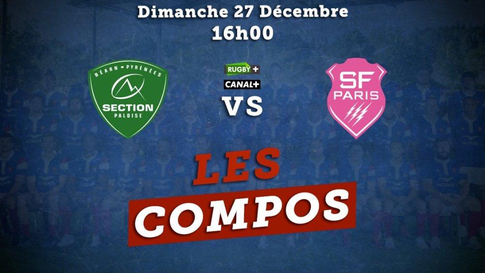 top 14 compos pau vs stade français paris rugby francexv de départ 15