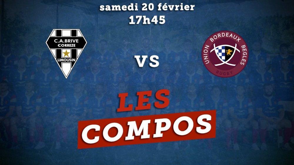 top 14 compos brive vs bordeaux rugby france xv de départ 15