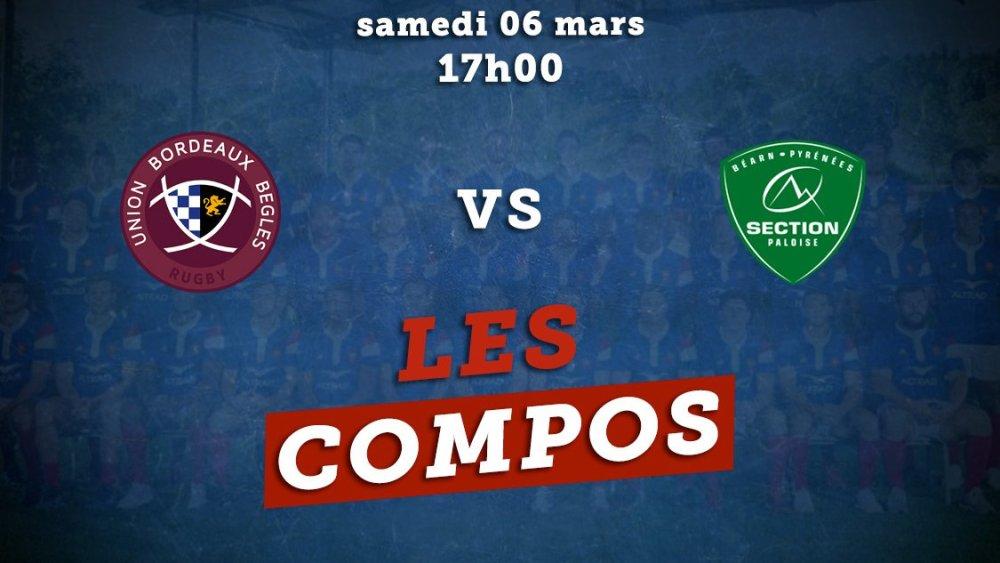 top 14 compos bordeaux vs pau rugby france xv de départ 15