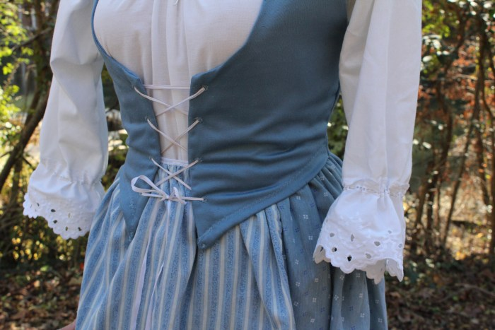 Costume Design: Belle's Blue Peasant Dress