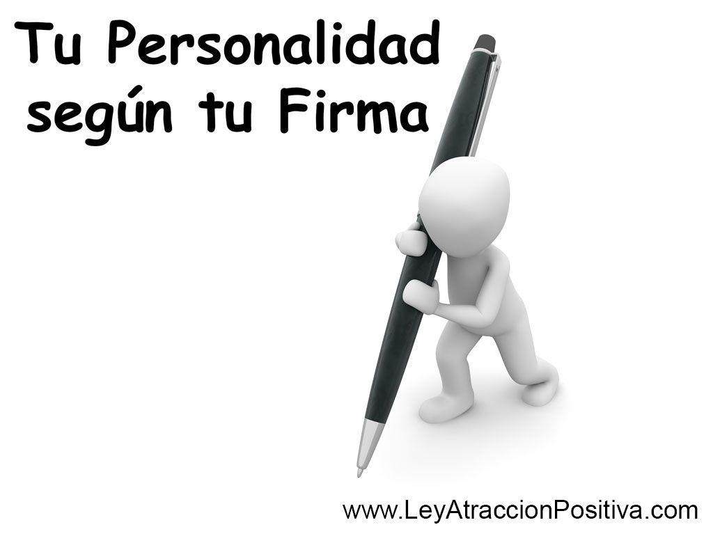 Tu Personalidad según tu Firma