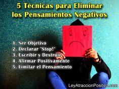 5 Técnicas para Eliminar el Pensamiento Negativo