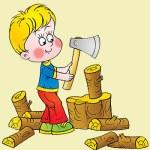 El leñador y sus tres hijos -cuento con moraleja