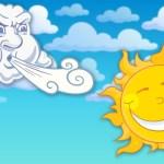 Fábula de Esopo- El viento del norte y el sol