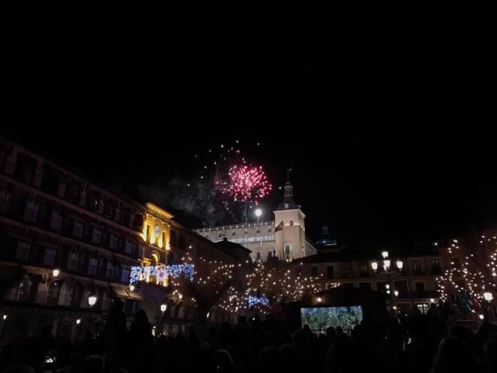 Fuegos Artificiales en Toledo durante la Cabalgata de los Reyes Magos 2017