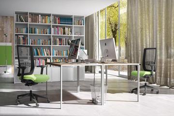 Produzione di mobili per ufficio. Ergonomic Seating And Chairs With Mesh And Arms Leyform