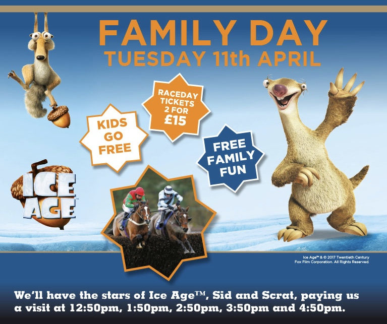Family Day at Exeter Racecourse on Tuesday April 11th