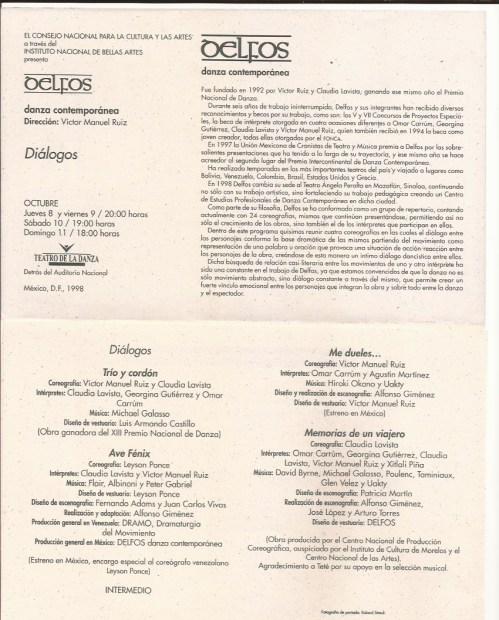 1998: «Ave Fénix» (Compañía Delfos Mazatlán, México)