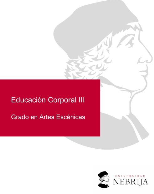 Universidad Nebrija en Madrid: Educación Corporal III (Coreografía) desde 2020