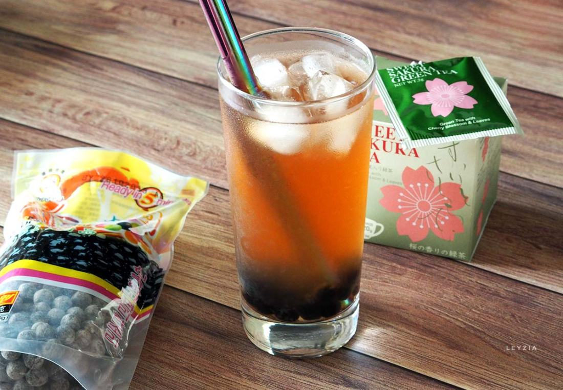 bubble tea sakura