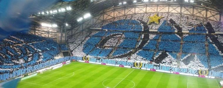 Dans les tribunes du stade vélodrome à Marseille