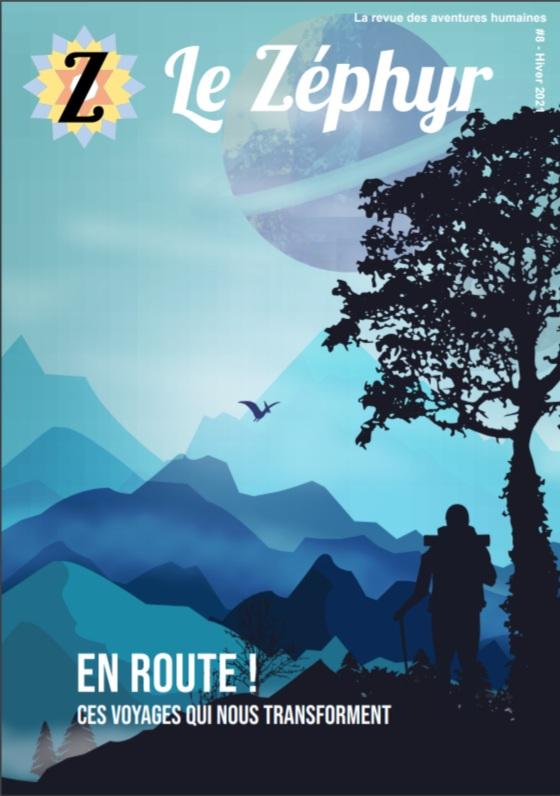 Publicité du numéro Voyage de la revue du Zéphyr
