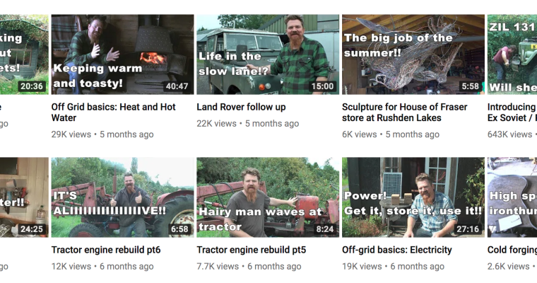 Off-grid living tips from Maximus Ironthumper on Youtube